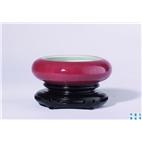 豇豆红釉镗锣洗